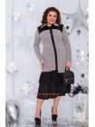 Жіноча трикотажна сукня із рюшой великого розміру