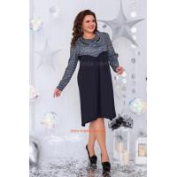 Жіноче плаття трапеція із хомутом великого розміру