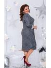 Женское теплое платье с кружевом большого размера
