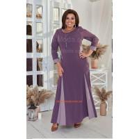Жіноча трикотажна сукня в підлогу великого розміру