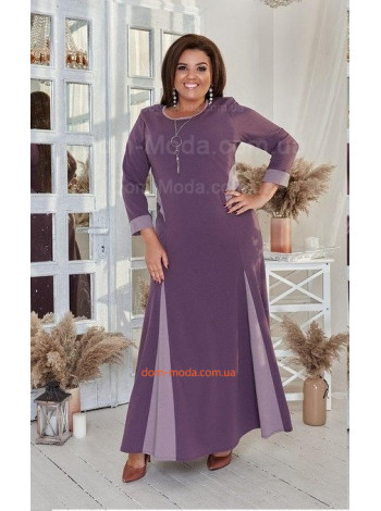Женское трикотажное платье в пол большого размера