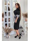 Трикотажное модное платье большого размера