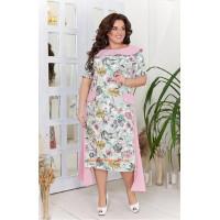 Красиве літнє плаття в принт великого розміру
