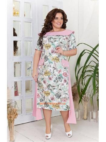 Красивое летнее платье в принт большого размера