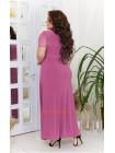 Трикотажное вечернее платье с гипюром большого размера