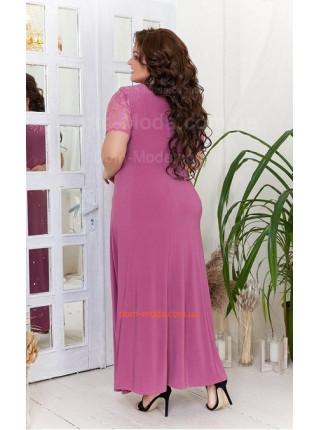 Трикотажне вечірнє плаття із гіпюром великого розміру