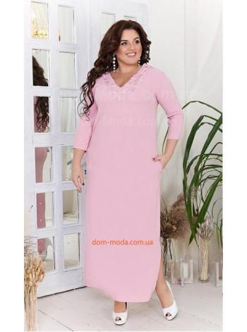 Длинное льняное платье большого размера