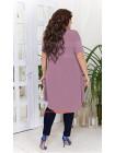 Модное короткое платье на пуговицах для полных