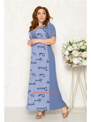 Летнее длинное платье для полных