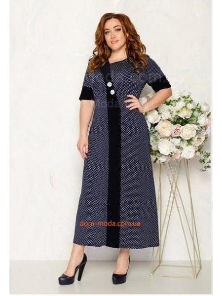 Летнее трикотажное платье для полных женщин