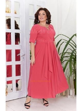 Стильное женское вечернее платье для полных девушек