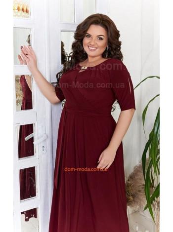 Стильне жіноче вечірнє плаття для повних дівчат