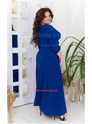 Вечернее длинное платье в пол для полных