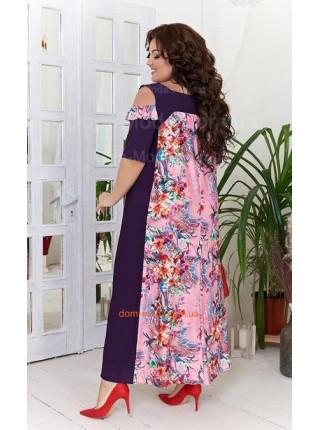 Красивое летнее платье с открытыми плечами для полных
