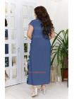 Длинное джинсовое платье в принт для полных