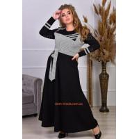 Жіноча максі сукня великого розміру