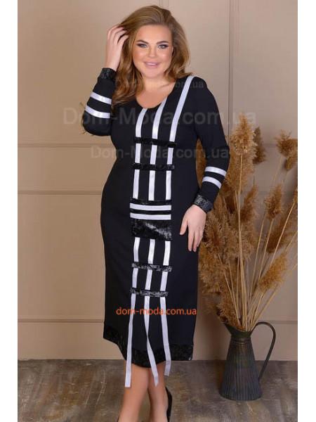 Черное красивое платье большого размера