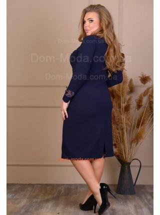 Синее платье большого размера