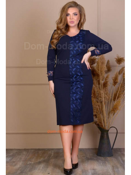 Синє плаття великого розміру