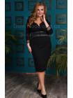Женское черное вечернее платье