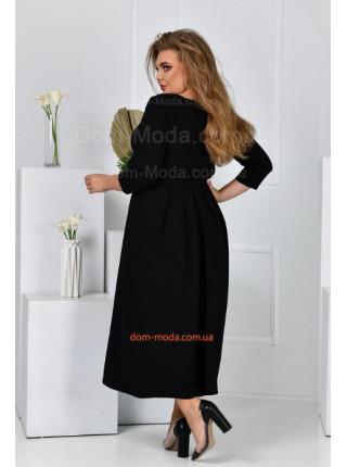 Нарядне чорне плаття для повних дівчат