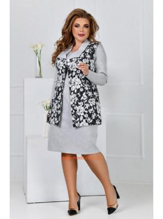 Демісезонне плаття з жилеткою великого розміру