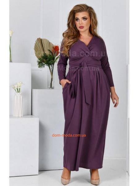 Елегантна довга сукня для повних