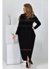 Элегантное длинное платье для полных