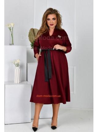 Сукня кльош з поясом для повних