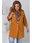 Кашемировый пиджак женский большого размера