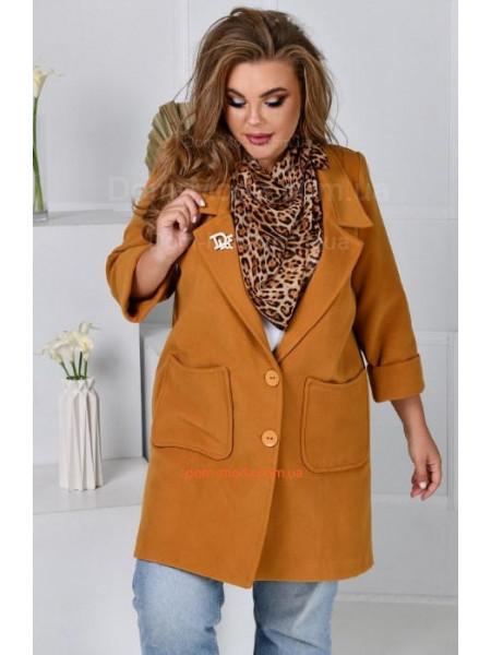 Кашеміровий піджак жіночий великого розміру