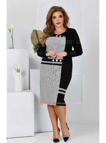 Офисное платье для полных женщин