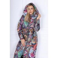 Зимняя женская куртка пальто с поясом