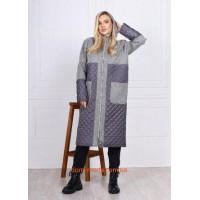 Женская демисезонная удлиненная пальто куртка