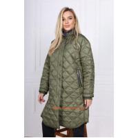 Стильное женское демисезонное пальто из плащевки