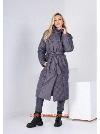 Модное зимнее пальто из плащевки