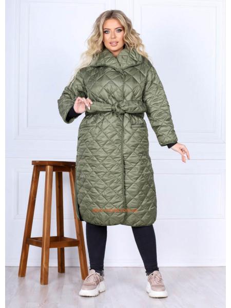 Пальто из плащевки большого размера