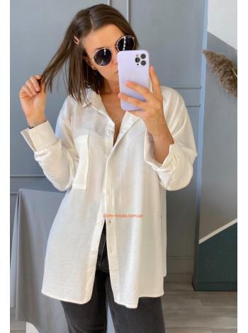 Жіноча модна сорочка з довгим рукавом