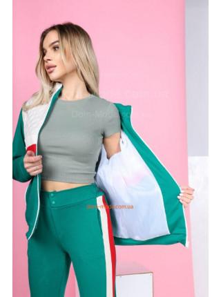 Зелений спортивний костюм жіночий