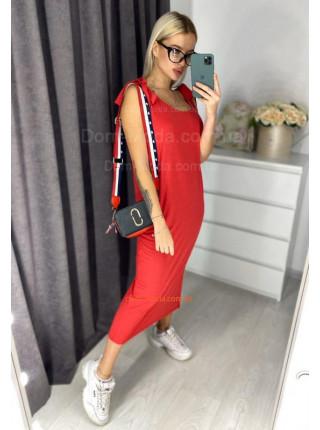 Трикотажное платье майка