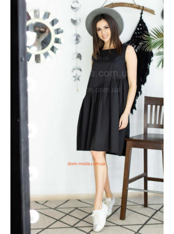 Жіноча літня сукня чорного кольору