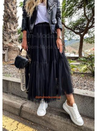 Женская стильная фатиновая юбка