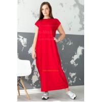 Длинное трикотажное платье свободного кроя