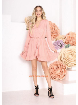 Жіноче плаття на запах з рюшами