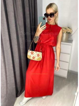 Длинное платье из штапеля