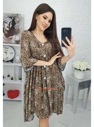 Леопардовое платье рубашка