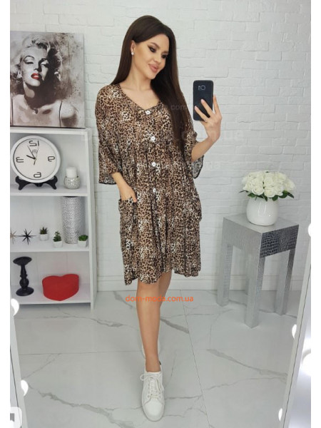 Леопардове плаття сорочка