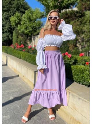 Женский летний костюм с юбкой и топом