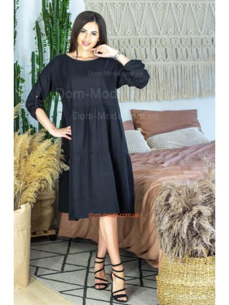 Легка сукня вільного крою з довгим рукавом