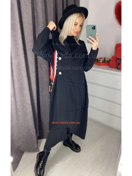 Довгий кардиган з капюшоном жіночий